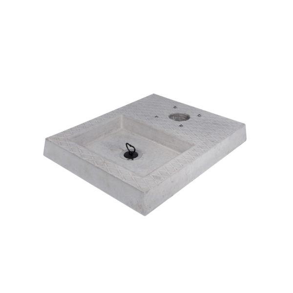 42/BSC/4: Base in cemento con vaschetta