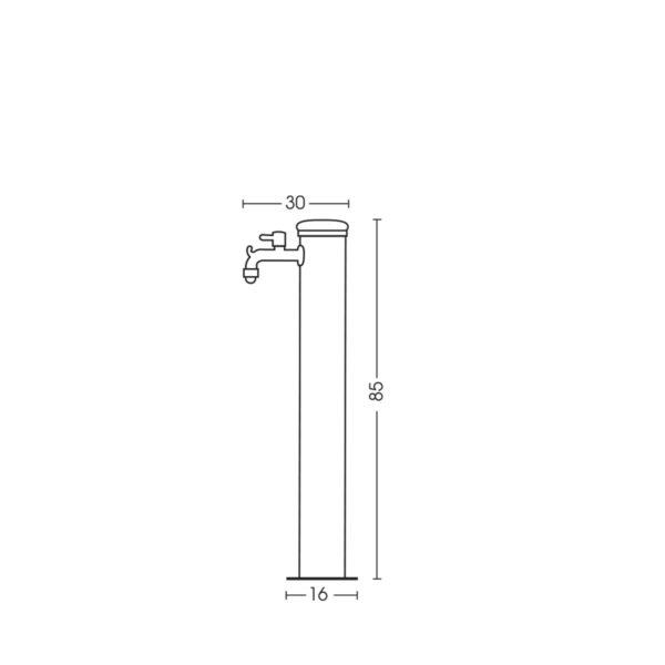 Dimensioni della fontanella 42/ARI