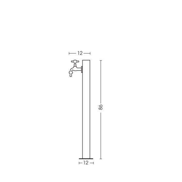 Dimensioni della fontanella 42/ARIQ