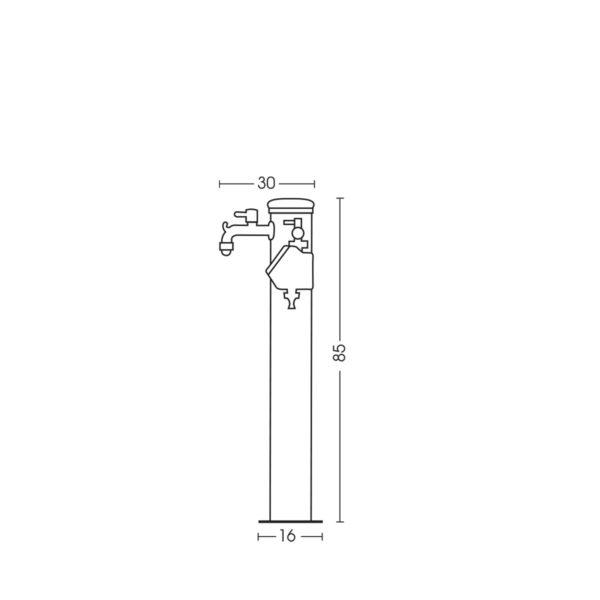 Dimensioni della fontanella 42/ARRA