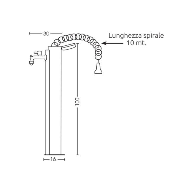 Dimensioni della fontanella 42/ARRS