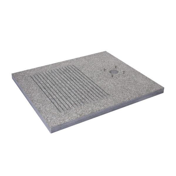 42/BSD: Base rettangolare in granito per doccia, con fenditure per scarico a perdere