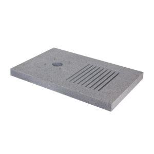 42/BSMA: Base rettangolare in granito con fenditure per scarico a perdere per le fontane art. 42/PS e 42/SR