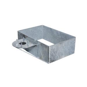 42/BSZ: Base rettangolare in acciaio zincato a caldo, da interrare, per riempimento ciottoli