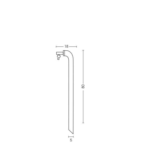 Dimensioni della fontanella 42/CN