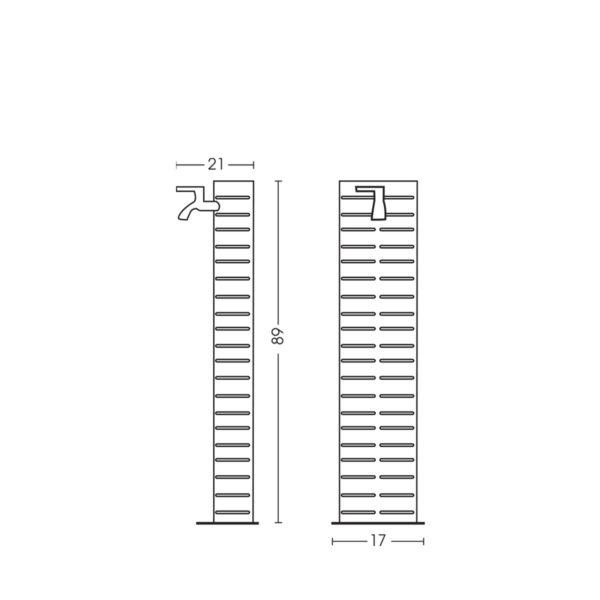 Dimensioni della fontanella 42/CTN