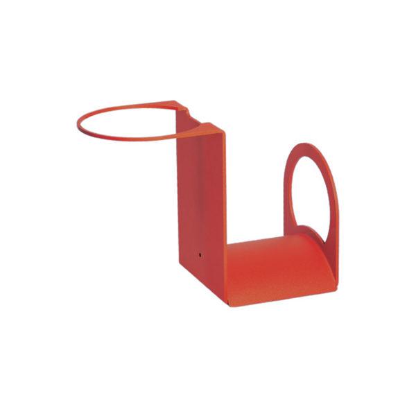 42/PG: Porta-gomma in ferro color rosso