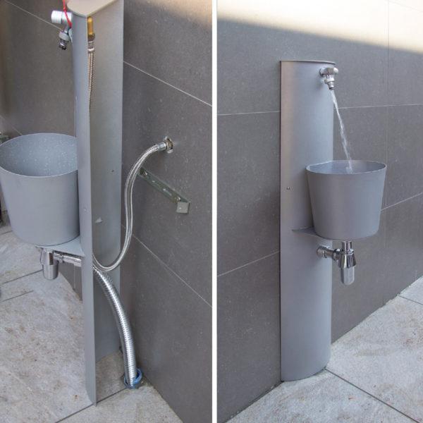 Procedimento montatura della fontana da parete 42PRT