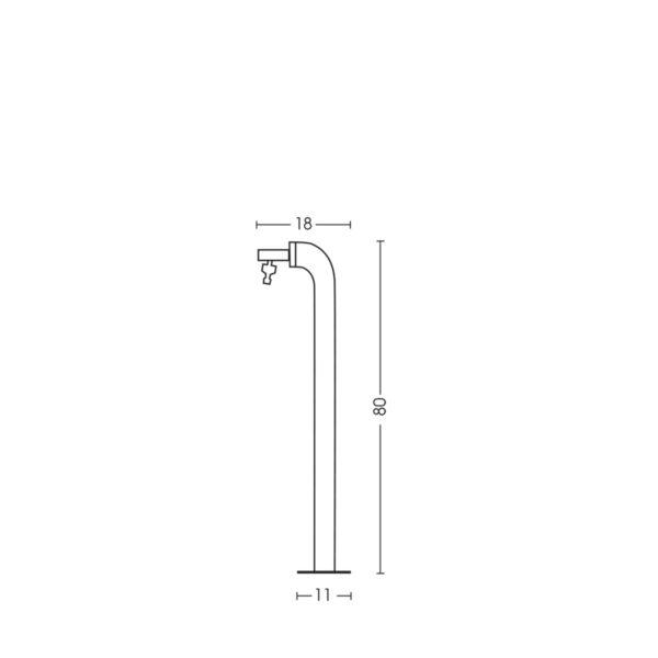 Dimensioni della fontanella 42/PS