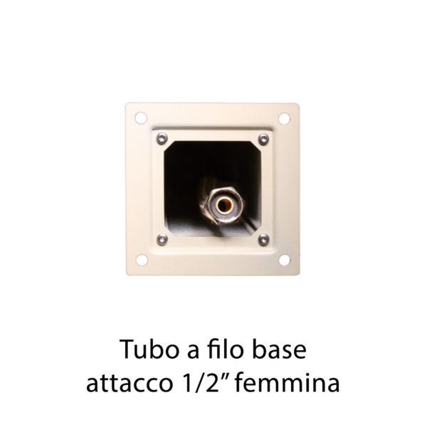 "Tubo a filo base attacco 1/2"" femmina"