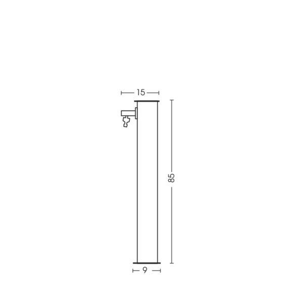 Dimensioni della fontanella 42/Q