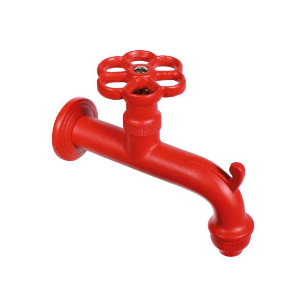RUB/022: Rubinetto in ottone color rosso
