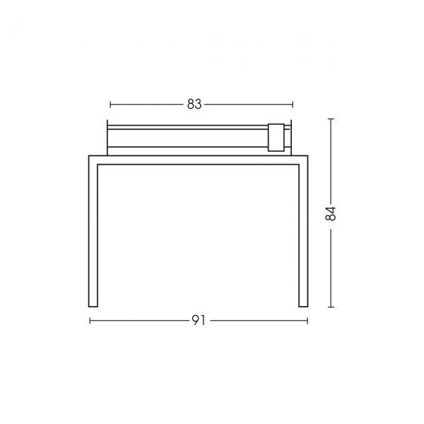Dimensioni barbecue 1219TV80P