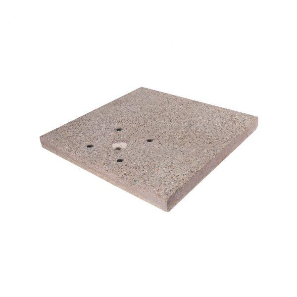Base quadrata in graniglia di cemento per fontane da giardino