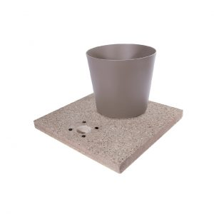 Base in graniglia di cemento completa di vaschetta con piletta di scarico