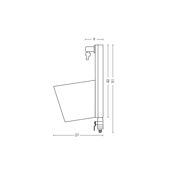 Dimensioni della fontana 42/PRS: H. 42 x L. 23 x P. 27 cm